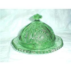 IMPERIAL NU-CUT STAR GREEN PRESSED DOMED BUTTER#2377652
