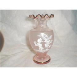 MARY GREGORY PINK VASE WITH GOLD #2377656