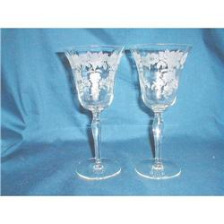 2 MORGANTOWN PICARDY WATER GOBLETS #2377663