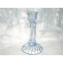 CAMBRIDGE BLUE CAPRICE SHELL FOOTED CANDLESTICK#2377676