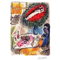 BEAUTIFUL MARC CHAGALL REVERIE SIGNED #2377690