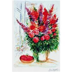 MARC CHAGALL BOUQUET with CHERRIES w/COA #2377692