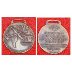 """1930s LIMA ADVERTISING WATCH FOB """"MOVE THE #2377896"""