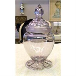 VINTAGE GLASS COUNTRY STORE COUNTER JAR #2377909