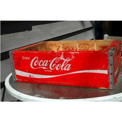 Old RED  Coca Cola Wood Crate  #2378045