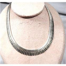 Italian Design Feather Sterling Silver necklace#2378089