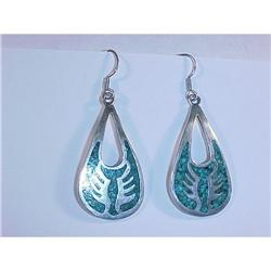 Large Sterling Silver & Tuquoise Earrings #2378095