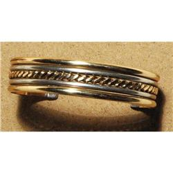 Sterling and gold cuff bracelet  #2378112