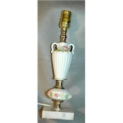 Porcelain Night Table  Lamp with Roses  #2378122