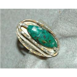 Green Turquoise and Sterling Silver Ring  #2378123