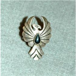 Handcrafted, Signed Thunderbird Ring Sterling &#2378162