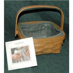 Handmade Longaberger Basket with liners 2001 #2378175