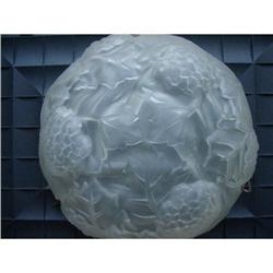 French Art  Deco Frosted Glass Centre Light #2378502