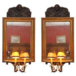 Mirrored Wall Sconces - Pair #2392820