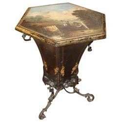 Tole side table English #2392832