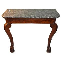 Louis-Philippe Flame Mahogany Marble-Top #2392840