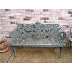 cast iron fern leaf settee and pr. chairs #2392869