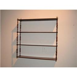 French mahogany hanging shelf with brass #2392908