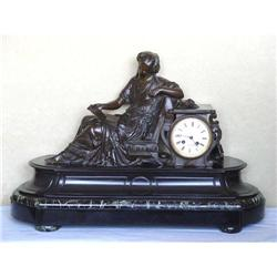 19c French Mantle Clock Bronze Demay Listed #2393215