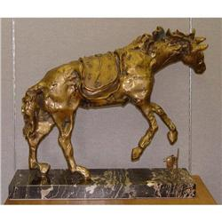 Dali Bronze Horse Saddled WIth Time Sculpture #2393216