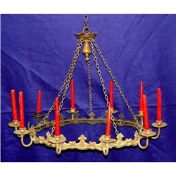 Rare 19c French Bronze 10 Arm Candelabra Lamp #2393240