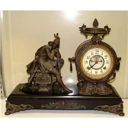 New Haven Mantle Clock Medieval Knight Soldier #2393250
