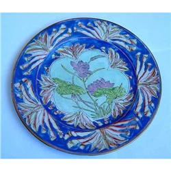 19c Ching Dyn Chinese Famile Rose Lotus Plate #2393343