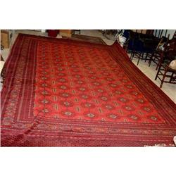 Hand woven Bukhara rug 11ft 3in x 16ft 6in #2393360