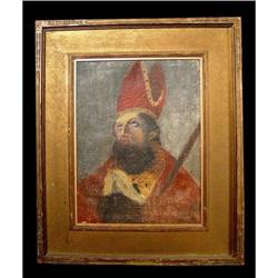 18c Old Master Painting Papal Portrait Church #2393364