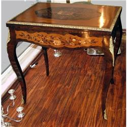 French game end table fine marquetry bronze #2393404