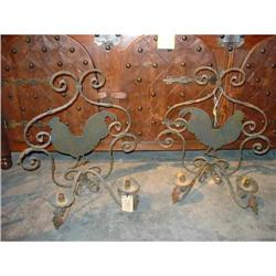 Pair of French 2 Arm Rooster Sconces #2393469