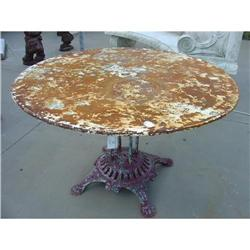 Early 1900's Metal Garden Table from France #2393473