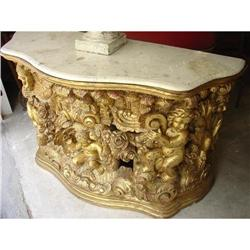 Antique Italian Giltwood Putti Console with #2393486