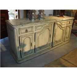 Louis XIV Style Painted Enfilade with Faux #2393488