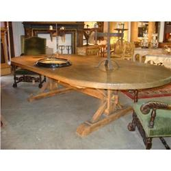 Oval Meleze Wood Table from France #2393490