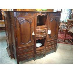 Antique French ¾ Cabinet with Bombay Front, #2393498