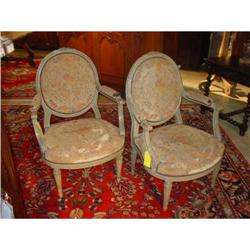 Pair of Louis XVI Armchairs from France #2393500