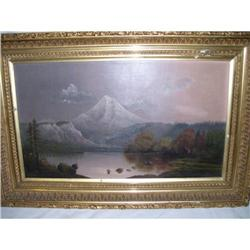 """""""Mt. Hood"""" Oil on Canvas by E.R. Lamb #2393509"""
