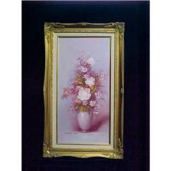 Framed Oil - Vibrant Pink Floral by Robert Cox #2379927