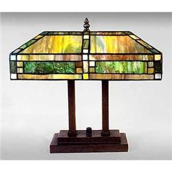 ART DECO GLASS TABLE LAMP / NEW ACCENT LIGHTING#2379953