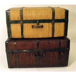 Antique 1930s Willow Trunk * china * LIGHT #2379967