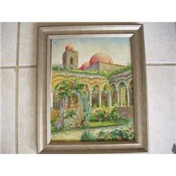 OLD SPANISH WATERCOLOR/ SIGNED #2380111