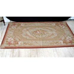 3'x5' Handstitched Aubusson-style rug #2380121