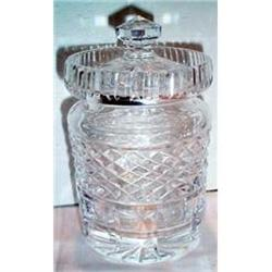 Signed Waterford Crystal Covered Jam Jar #2380130
