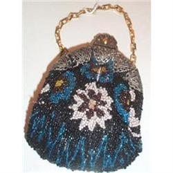 Small Beaded Floral Decorated Purse #2380132