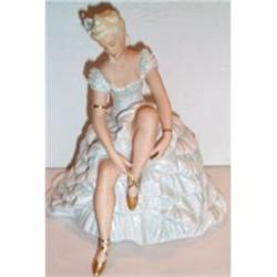 Crown Ducal Large Female Gowned Figurine #2380135