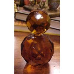Gorgeous Faceted Amber Colored Crystal Scent #2380148