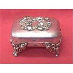 Victorian Silverplate footed soap Box  #2380161
