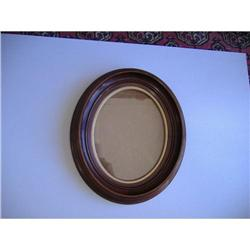 Oval Blackwalnut  Frame with Glass #2380177