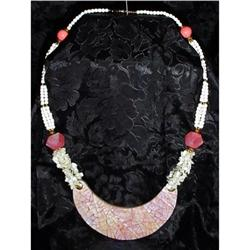Vintage Mother of Pearl,Shell Necklace #2380423